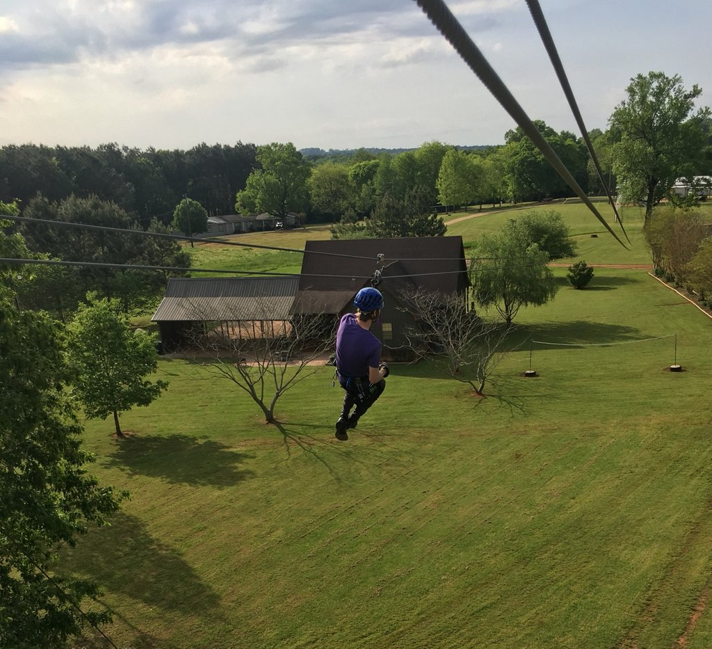 Look at Zac zip and zoom! 🏁 This can be you if you call and book a reservation with us: 936-645-5094 . #ziplining #zipnac #zoom #spring #fun #adventure #family #friends #nacogdoches #texas #tripadvisor