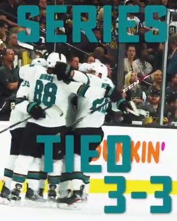 #SJSHARKS WIN 2-1 IN DOUBLE OVERTIME TO FORCE GAME 7!!!!!!!!!!!