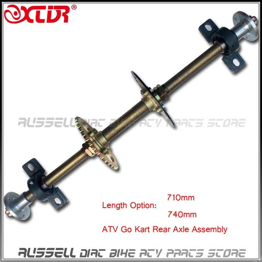 #health #fitness #lifestyle #gym ATV Quad Go Karts Rear Axle Complete Assembly with Carrier Hub Brake Disc Chain Sporcket 71cm 74cm 428