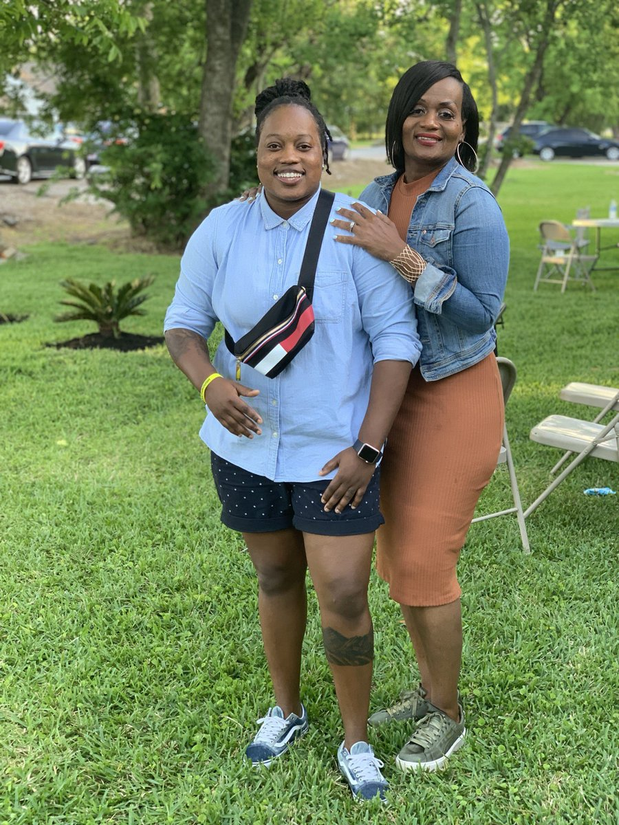 Ill just sit this pic right here...my mom and I. Mind you she is well over 50 years old 💁🏾♀️ 🔥 #SundayFunday #EasterSunday