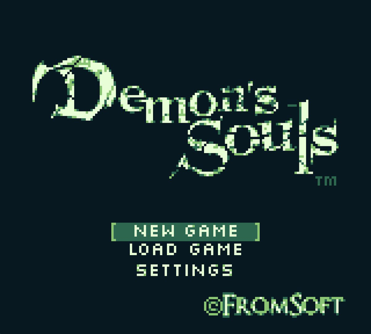 Happy 30th, #gameboy ! Here&#39;s my Demon&#39;s Souls demake in all it&#39;s 4 color glory! #pixelart #retro #gamedev #gameboy30th<br>http://pic.twitter.com/oH3mY7YWfp