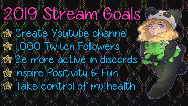 Goals are important. Here are mine. What are yours?  #goals #twitch #twichstreamers #QOTD