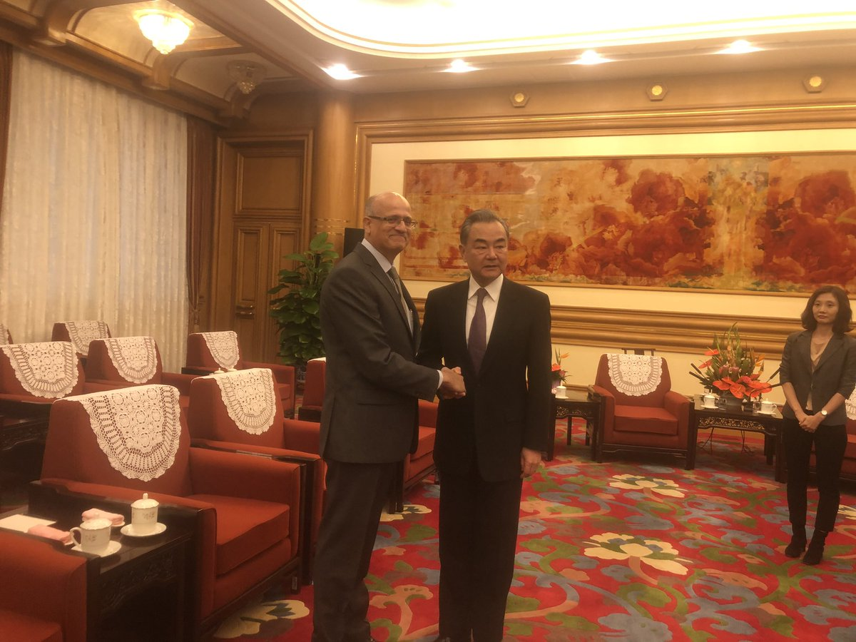 Foreign Secretary Shri Vijay Gokhale, in Beijing for regular bilateral consultations, called on State Councilor and Foreign Minister of China, Mr. Wang Yi at Zhongnanhai today morning. @VikramMisri @IndianDiplomacy @MEAIndia