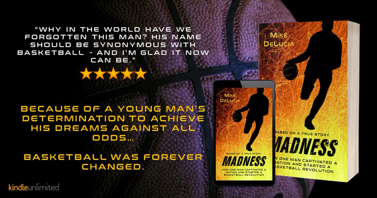 """Why in the world have we forgotten this man? His name should be synonymous with BASKETBALL - and I'm glad it now can be.""  ♨ http://getbook.at/madnesskindle  #FREE with #kindleunlimited   Read about the beginning of #marchmadness and the man who changed #BASKETBALL   #mustread #sports"