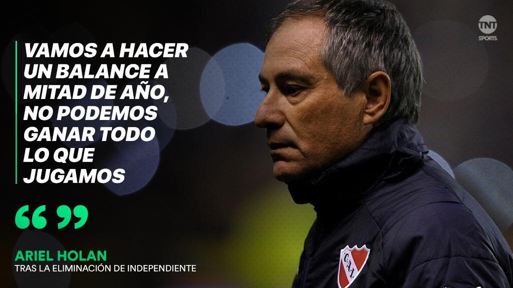 #TNTSports   Ariel Holan, tras la eliminación de Independiente en manos de Argentinos en la #CopaSuperliga. ¿Qué te parece la situación del técnico?  🔃 Cumplió su ciclo ❤ Tiene que seguir