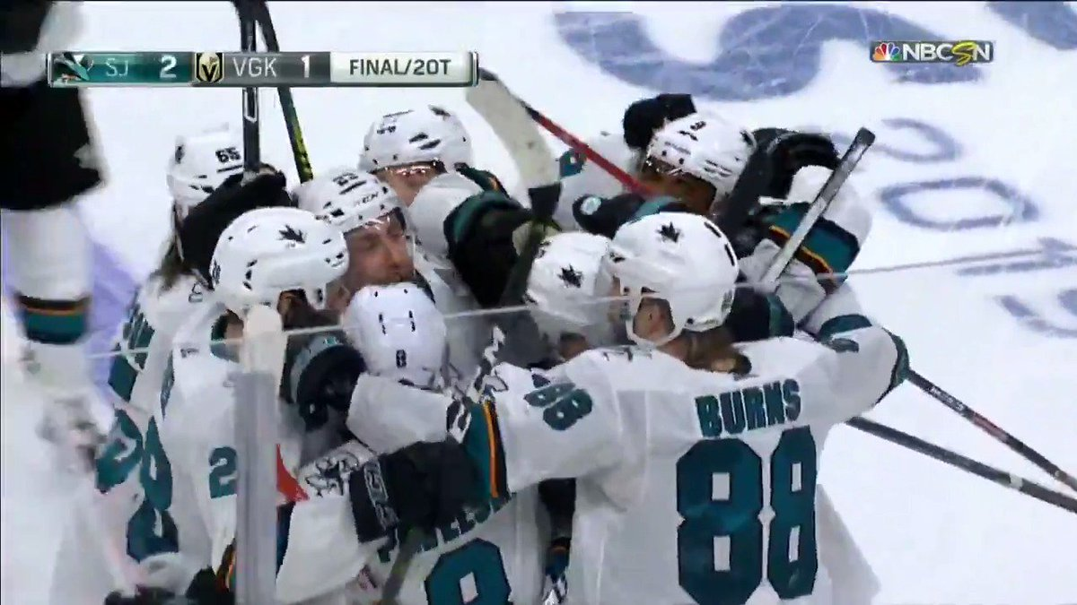 .@TomasHertl48 hits the JACKPOT 💰💰💰 The @SanJoseSharks take Game 6 in 2OT! #StanleyCup