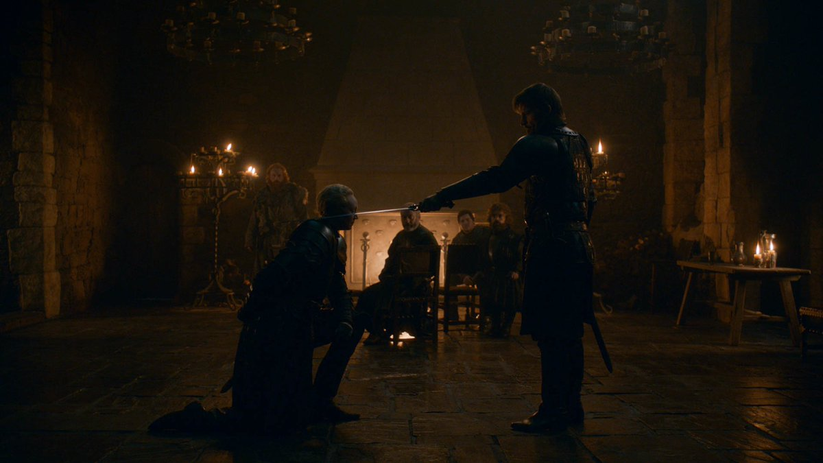 Ser Brienne of Tarth is the first female knight in the history of the Seven Kingdoms  #GameofThrones