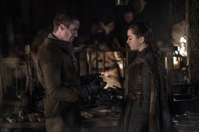 Gendry: The Red Woman almost killed me.   Arya: So were you talking to other bitches? 😡  #GOTS8E2 #GameOfThrones