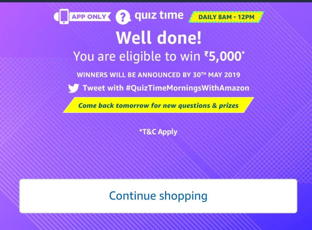 #Quiztimemorningswithamazon  #amazon complete my quiz today <br>http://pic.twitter.com/YkvdUszdNB