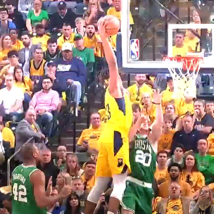 Myles Turner ATTACKS THE RACK in tonight's #KiaTopPlay! #Pacers #NBAPlayoffs