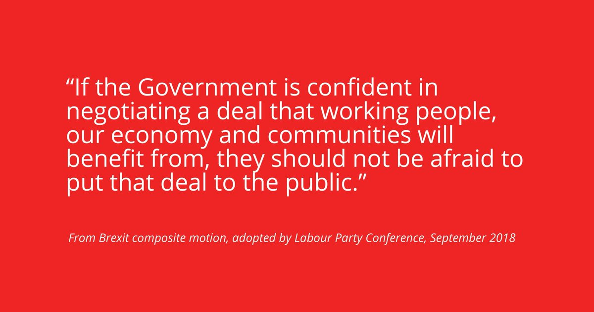 #Labour supports a public vote on whatever #brexit deal the government negotiates - see our conference resolution: <br>http://pic.twitter.com/YdeMZ34Mvk