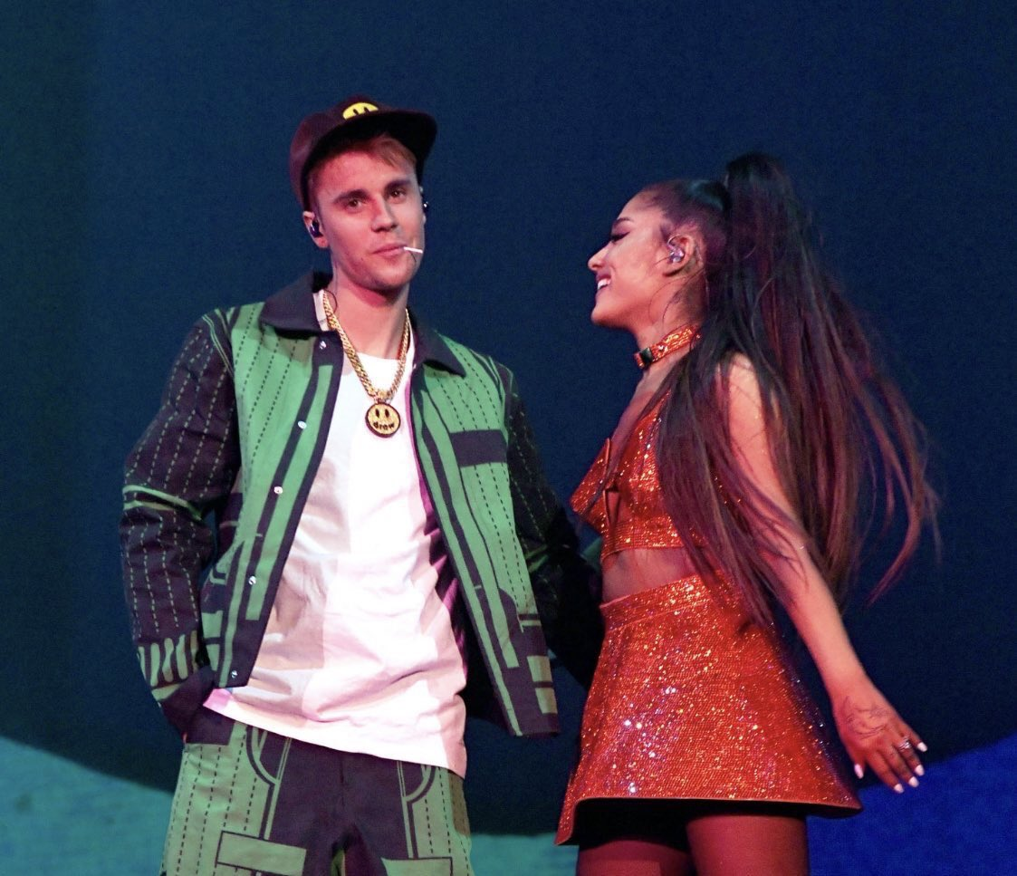 Justin Bieber and Ariana Grande <br>http://pic.twitter.com/LPyCu3GISc