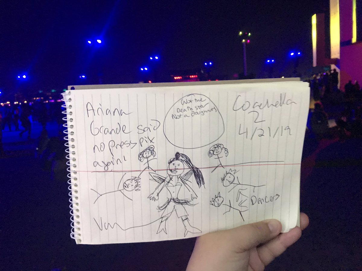 One more time, with feeling. Ariana Grande said no press photos for #Coachella  2. So that means...terrible stick figure drawings (because I am NOT an artist) #arichella<br>http://pic.twitter.com/Jqxu1xxnKw