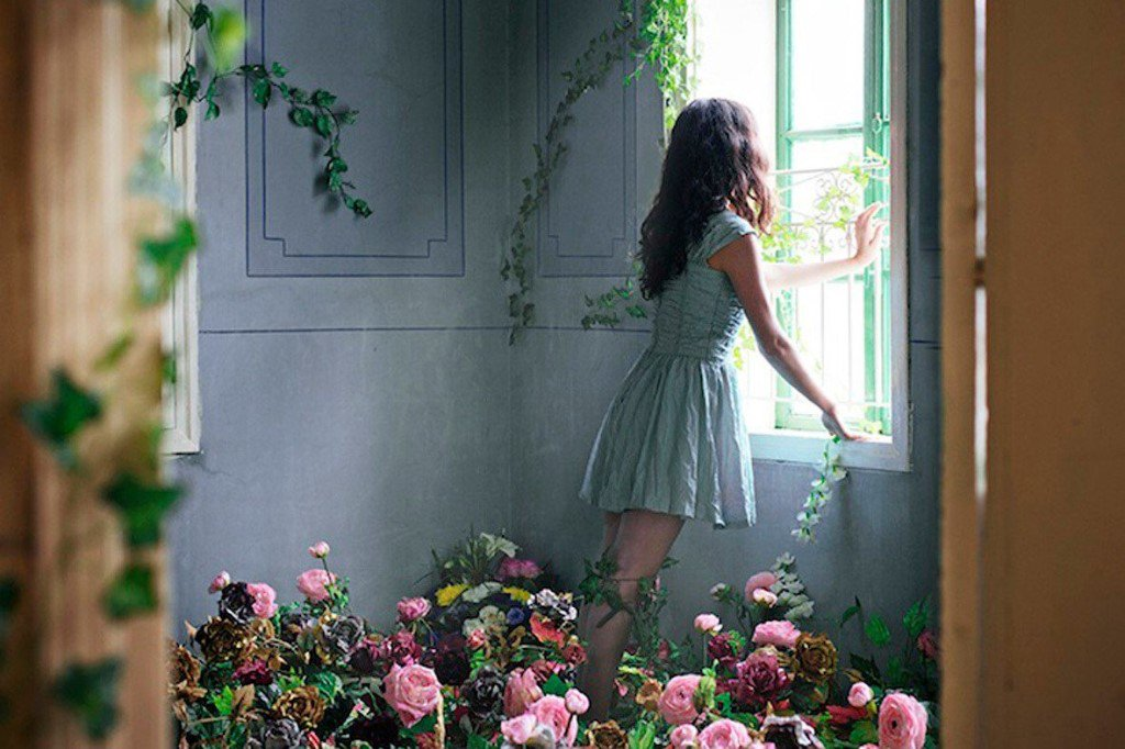 картинки девушка возле окна брюнетка женщины сширокими