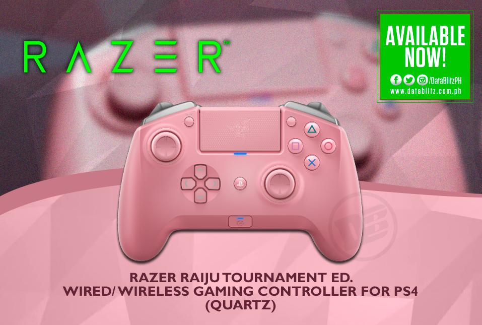 Datablitz On Twitter Razer Raiju Tournament Ed Wired Wireless Gaming Controller For Ps4 Quartz Will Be Available Today At Datablitz Price P7 795 00 Https T Co Eegiziuahd Razer has a pink quartz collection and the only thing i was missing. razer raiju tournament ed wired