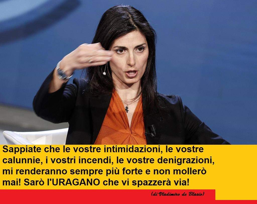 RT @enzo958: #raggi #Roma  Grande @virginiaraggi l'#uragano https://t.co/4glKmkTrNY