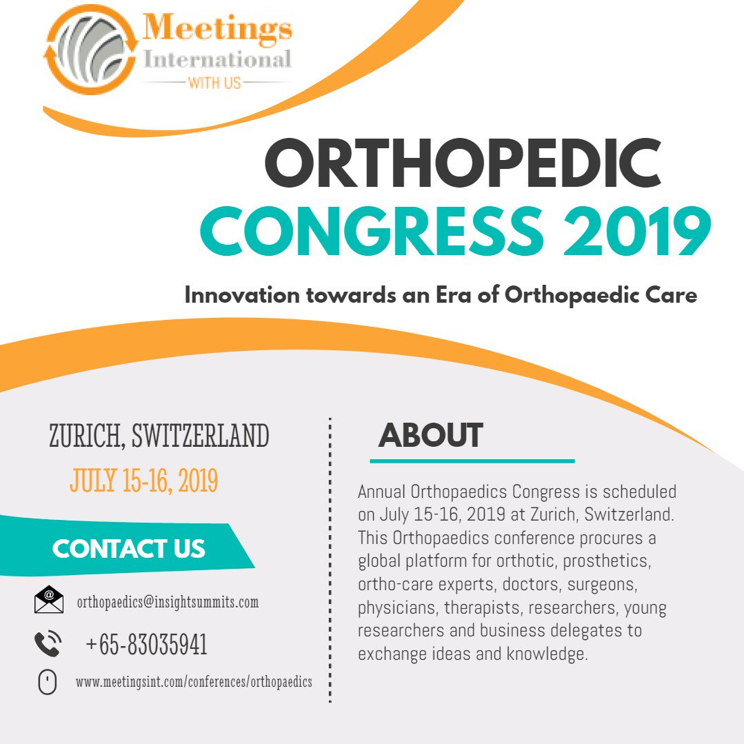4th Annual Orthopaedic Congress (@ElizaDi77748838)   Twitter