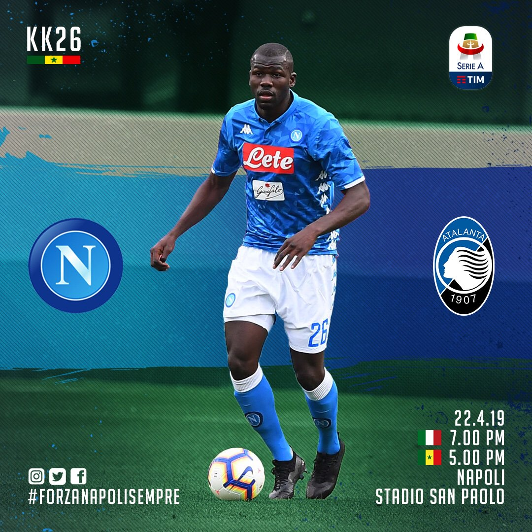 Koulibaly Kalidou's photo on #NapoliAtalanta