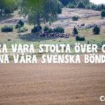 Image for the Tweet beginning: Svenska bönder bidrar både till