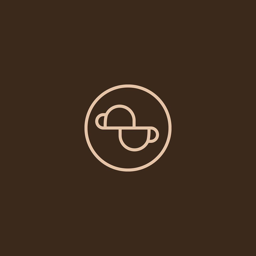 Logo for Decafa Coffee Shop. ↳ nasibov.me/logofolio