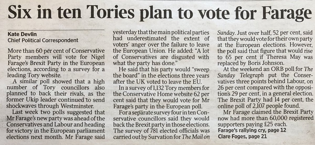 'Waaah!' scream the Tories. 'We've had 3 years to sort this Brexit bastard and we've totally failed. Let's vote for another party who also can't and won't deliver our resentful, xenophobic, English tantrum.'   (Times) <br>http://pic.twitter.com/NPZ5Ds2zPi