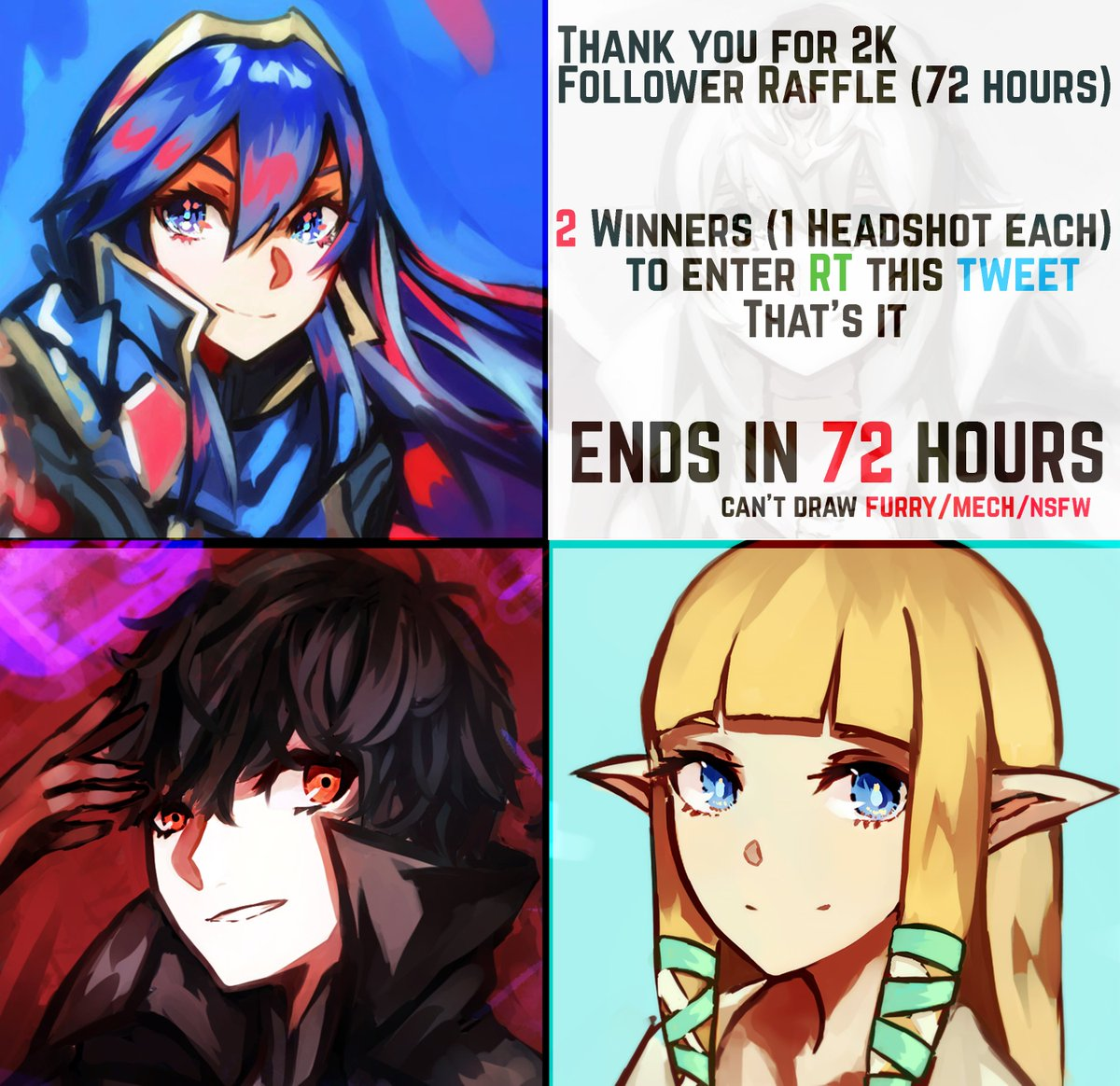 Thanks For 2K followers!  Although I couldn&#39;t prepare anything proper, Here&#39;s a quick 72-hour raffle Just retweet to enter(no need to follow) and I&#39;ll pick 2 winners in 3 days time Thanks again everyone~ <br>http://pic.twitter.com/NCE3YtwLZR