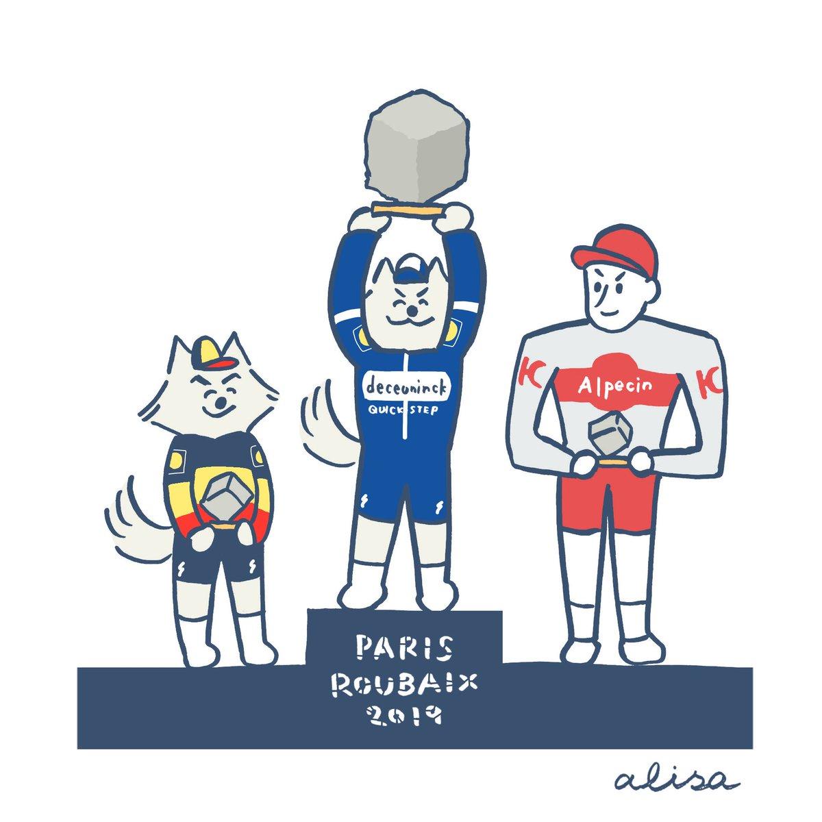 ジルベールおめでとう🐺✨ #parisroubaix #parisroubaix2019 #TheWolfpack #jspocycle https://www.instagram.com/p/BwjVj2-nehi/?utm_source=ig_share_sheet&igshid=1ne6x7kihvjir…