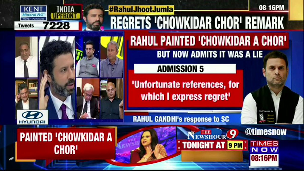 #RahulJhootJumla | Rahul Gandhi has not apologised for chowkidar chor hai and still believes in it: @ARanganathan72, Author & Scientist in conversation with @RShivshankar.