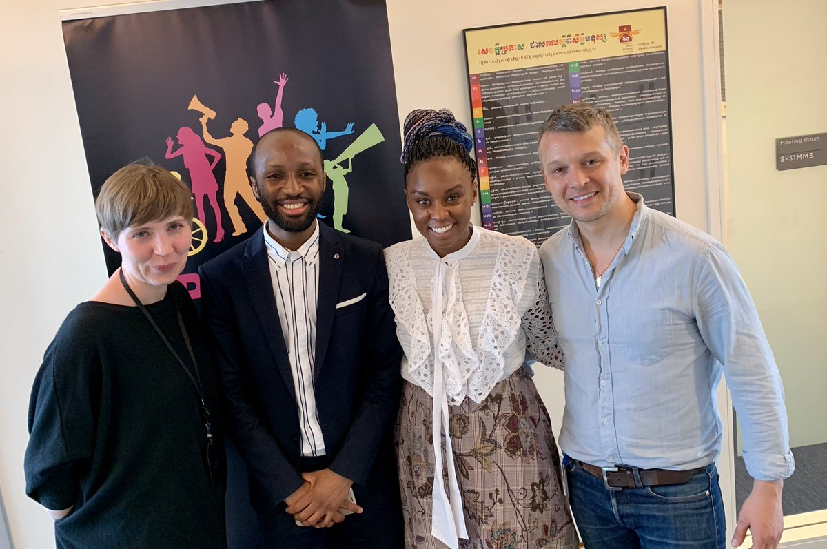 This morning we had the privilege to meet @wanuri #WanuriKahiu - the director of the Kenyan lesbian romance @rafikimovie - who sued the government who banned it. She's celebrated abroad – but at home in #Kenya, the director's film Rafiki has been banned for 'promoting lesbianism' – at United Nations Secretariat Building
