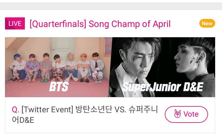 Vote for BTS on idol champ download the app it takes minutes <br>http://pic.twitter.com/6ZssYKrMWz