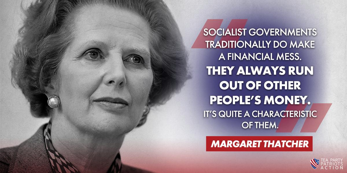 The Iron Lady saw firsthand the devastation socialism brought to Europe.  #Socialism #StopSocialismChooseFreedom <br>http://pic.twitter.com/Zjvjp6MlWD