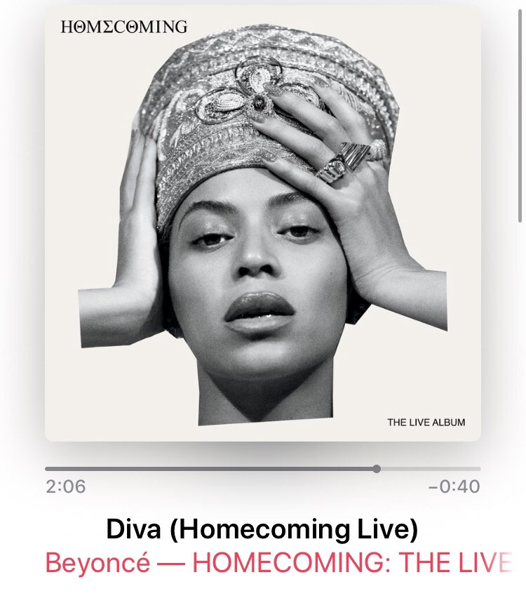 "@N_E_X_I  should have never told me ""Homecoming "" was on @AppleMusic. This has given me sooo much life#Coachella  #BeyonceHomecoming  #albumoftheyear #iknowimlate<br>http://pic.twitter.com/KNsilDOSuz"