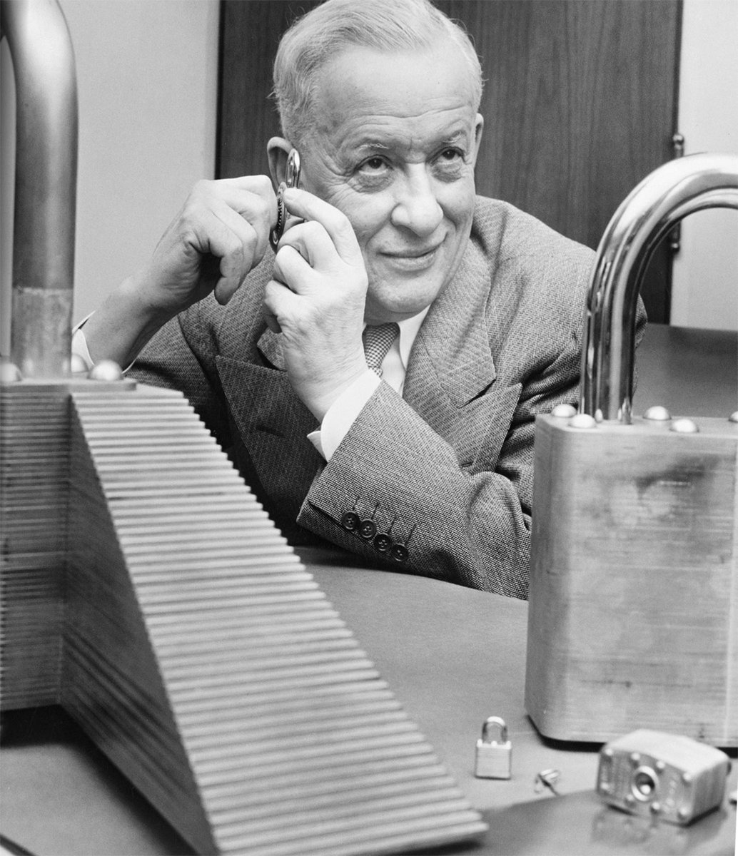 #TodayInEngineeringHistory Harry Soref, who later founded GSC customer @MasterLockUS, received a patent for a laminated padlock in 1924. <br>http://pic.twitter.com/JqW4JpMKt5