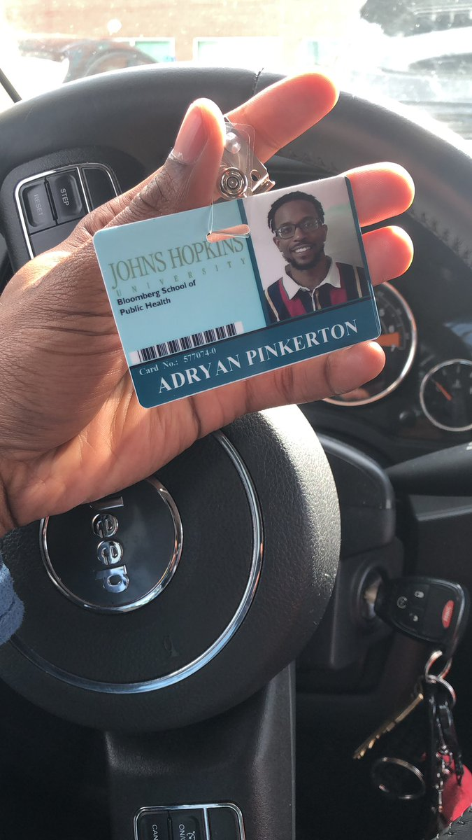 ANDDD ya boy officially starts his first day today @ Johns Hopkins as a Social Media Coordinator . God just keeps on blessing me . #MondayMotivaton <br>http://pic.twitter.com/c3nDM4BEjh