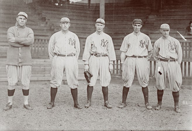 watch 8773f bf509 Today in 1915, the NY Yankees wore their famous pinstripe ...