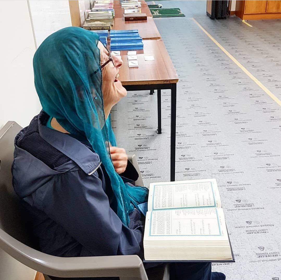 &quot;A Catholic granny came to Al Noor Mosque #Christchurch  today to pay her respect and learn about Islam. She was amazed when I showed her about the chapter of Mary in the Glorious Quran. She sat a corner and read the English translation delighted by what she had just discovered.&quot; <br>http://pic.twitter.com/DLQeiW9cgv