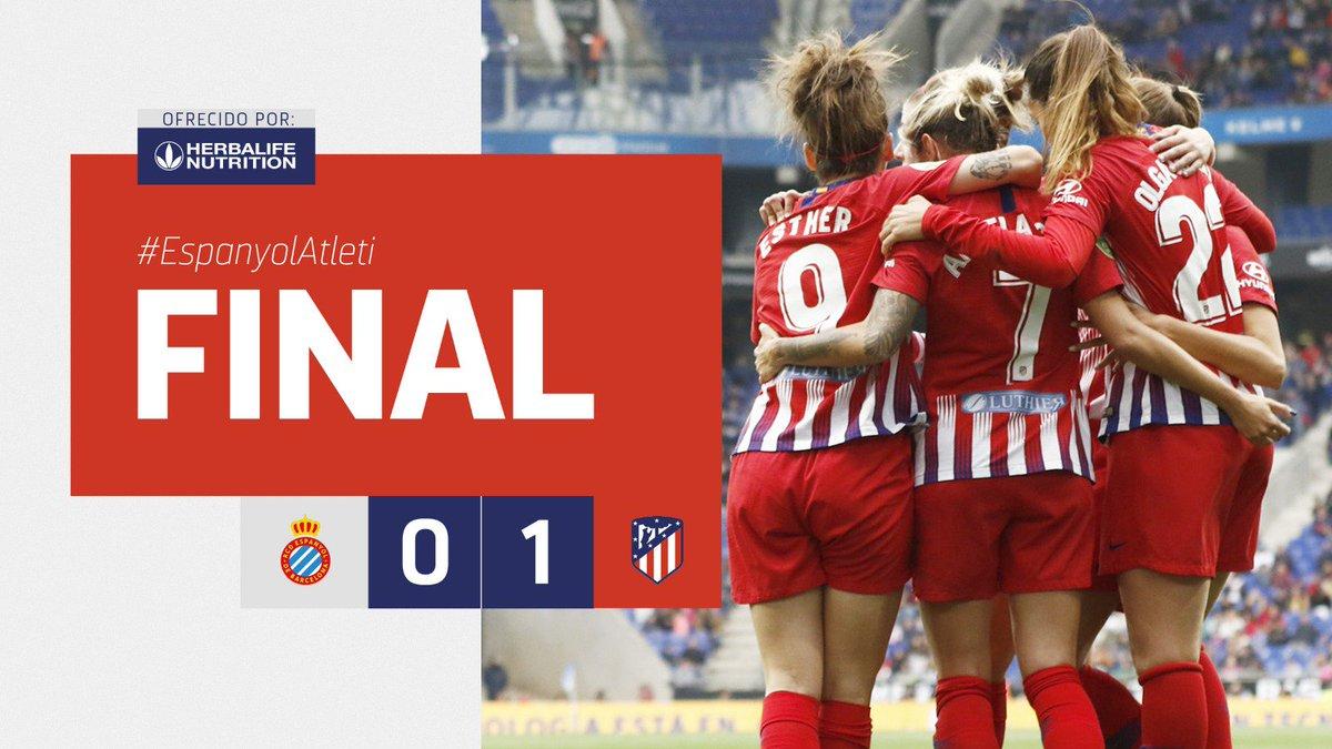 ⏱ 94'   ⏹ ¡FINAL DEL PARTIDO EN EL RCDE STADIUM!                      🔥#EspanyolAtleti 🔥                        ⚪🔵🆚🔴⚪                              0⃣➖1⃣                           ¡Otra final superada! ¡Felicidades, equipo!👏👏👏                            #AúpaAtleti