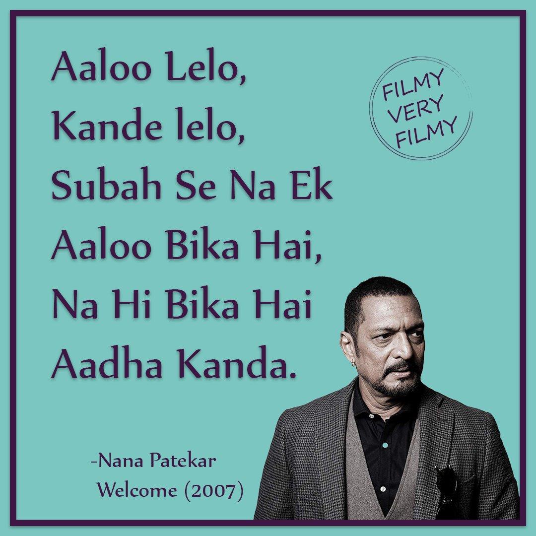 #nanapatekar #welcome #filmyveryfilmy #famous #Bollywood #scene #dialogue #aaloo #le #lo #kande #le #lo
