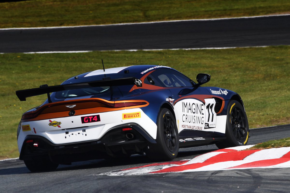A fantastic performance from @Plowey and @kelvin_fletcher sees the #11 Vantage GT4 from @BeechdeanAMR cross the line in P2. Congratulations, team! #VantageGT4 #BritishGT<br>http://pic.twitter.com/foV6iYd3Mw