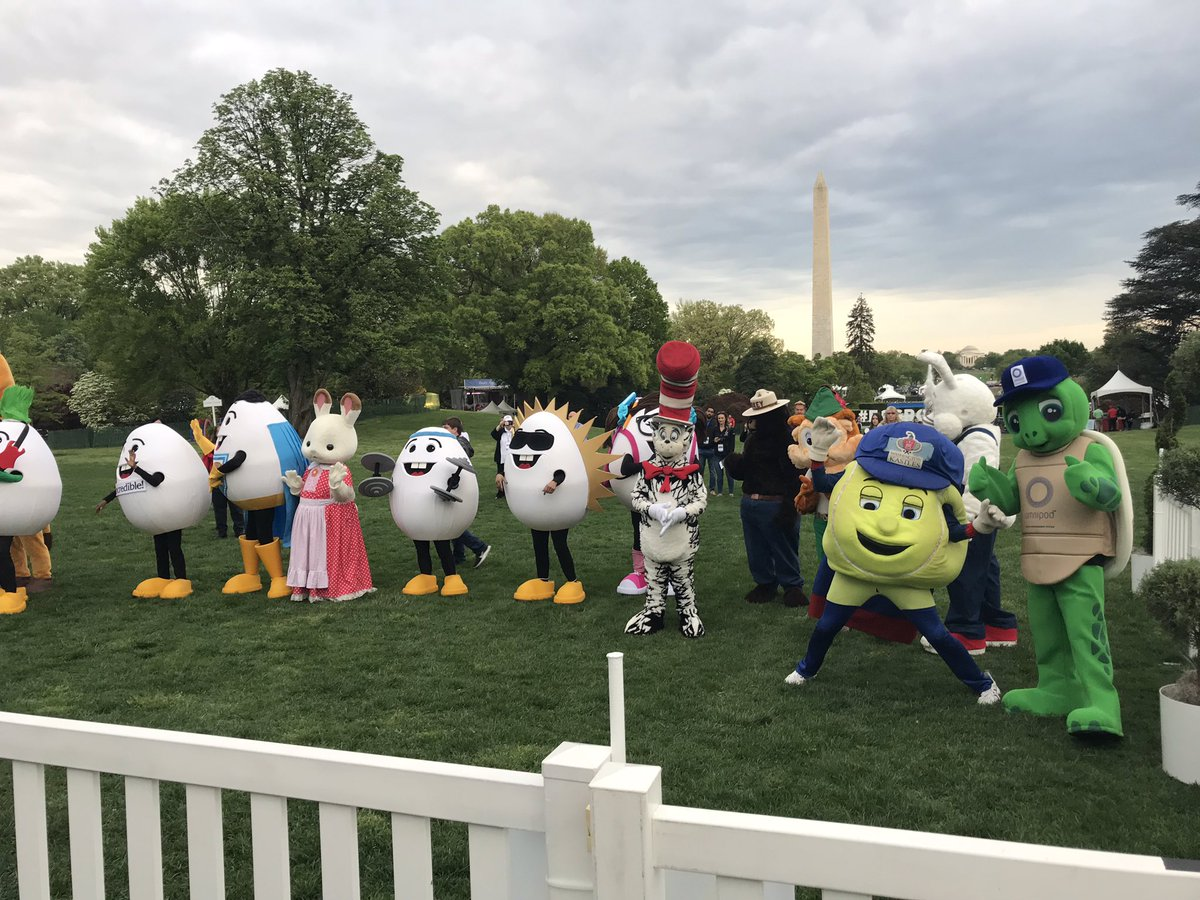 From the #EasterEggRoll2019 the founders of the island of misfit mascots. #GetupDC <br>http://pic.twitter.com/vg5RBX72em