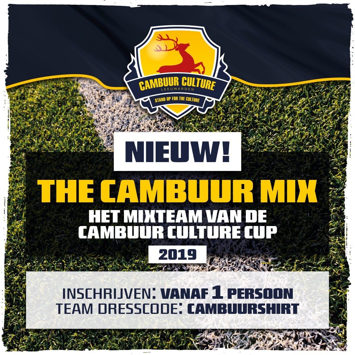 Mee doen aan de Cambuur Culture Cup, maar niet genoeg spelers? Geef je op voor het mixteam! Je betaalt per persoon en inschrijven kan via: http://webshop.sccambuurculture.nl/ #TheCambuurMix