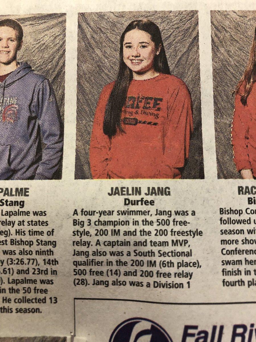 "Durfee Athletics على تويتر: ""Congratulations to Jaelin Jang, Abby"