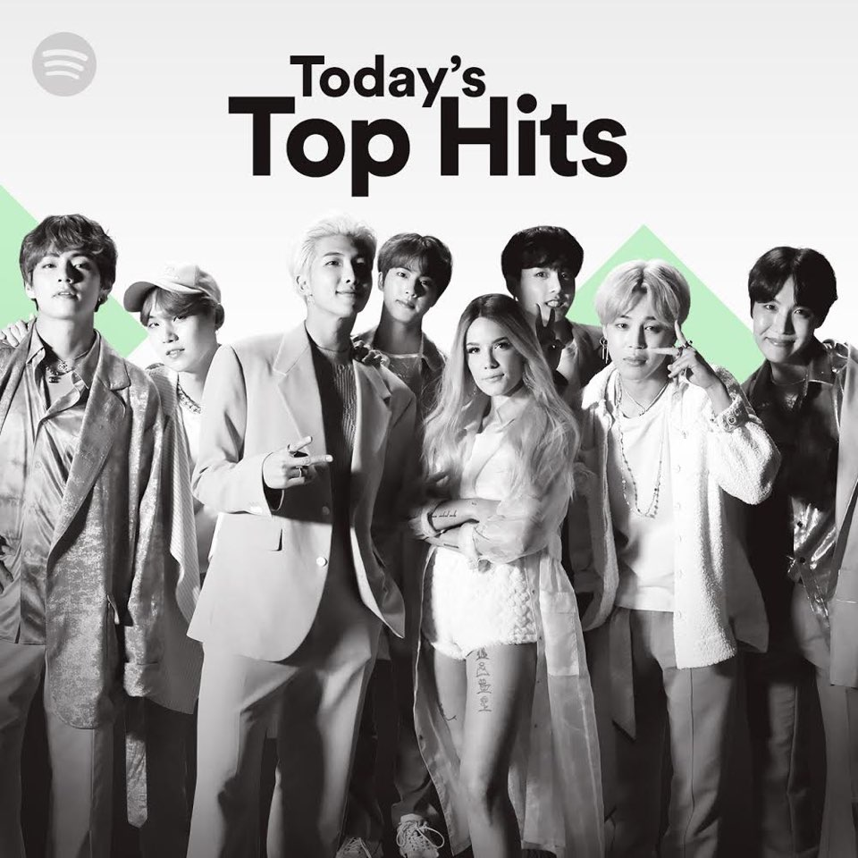 So unreal! We still can't believe this. Thank you for your support, Army. This cover is dedicated to you 💜 http://spoti.fi/TodaysTopHits
