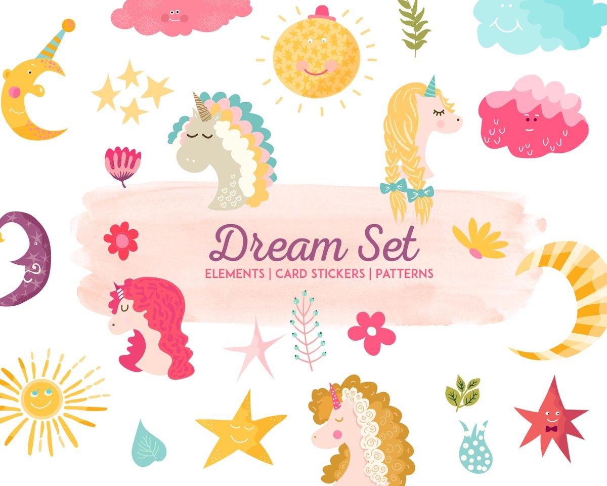 Never Stop Dreaming... 😌   https://buff.ly/2UwhJzB   #vectorart #handmade #artwork #elementaryart #kidscrafts #ecards #Patterns #wreaths #Stickers #labels #Download #photoshop