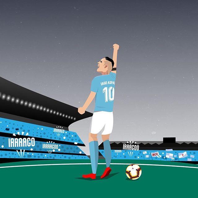 Goleadores nacionales de #laliga:  16 goles, Aspas (en 22 partidos) 14, Jaime Mata (30) 14, De Tomás (30) 13, Borja Iglesias (32) 13, Jorge Molina (33)  Los números de #iagoaspas 😳🔝🇪🇸 #footballillustration #balaidos #celtadevigo #rccelta #principedas… http://bit.ly/2DoFPq0