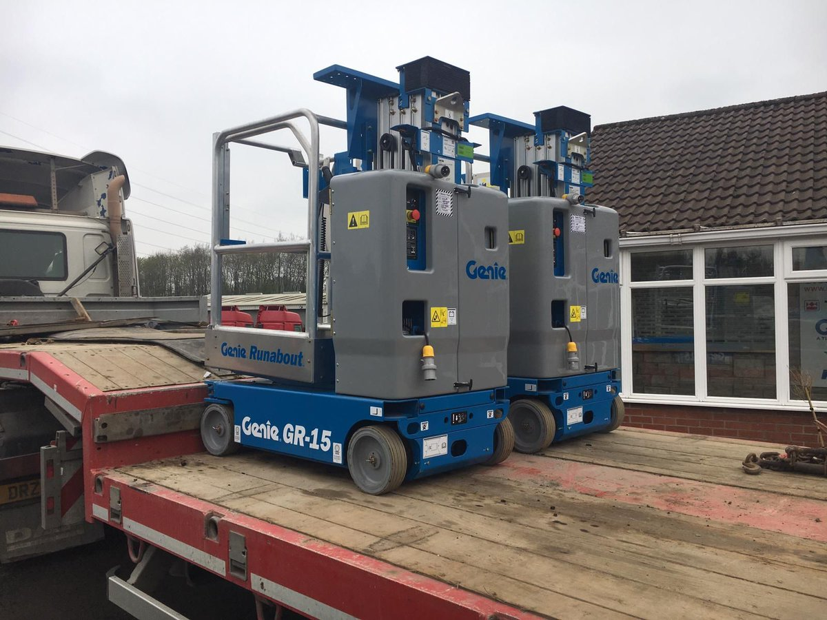 2 new #Genie GR15 Runabouts leaving for Watson #Hire in #Donegal last week!<br>http://pic.twitter.com/Vitg1f2J8t