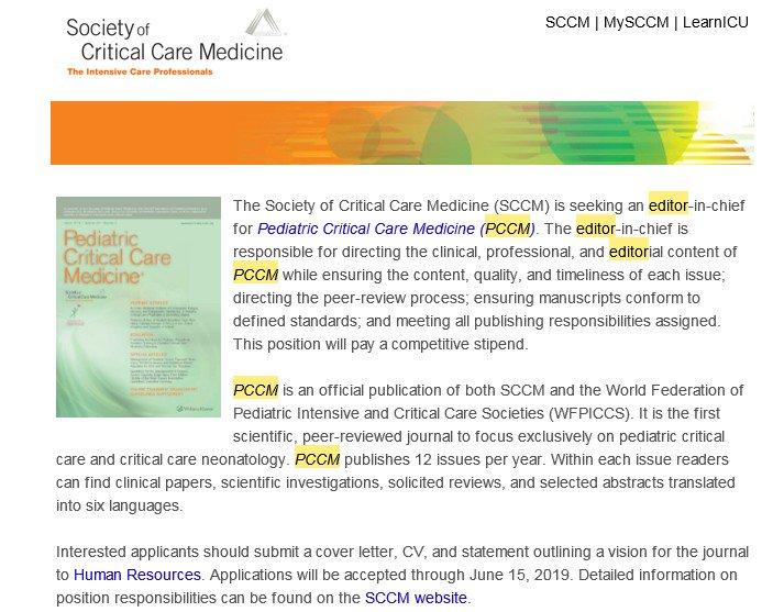 Pediatric Critical Care Medicine on Twitter: \