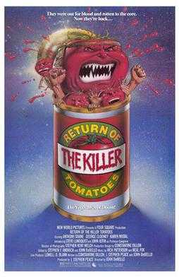 &quot;Return of the Killer Tomatoes!&quot; was released in theatres today in 1988. The film was the first sequel to the 1978 film &quot;Attack of the Killer Tomatoes&quot;. #80s #80smovies<br>http://pic.twitter.com/7Gnbx82WmO