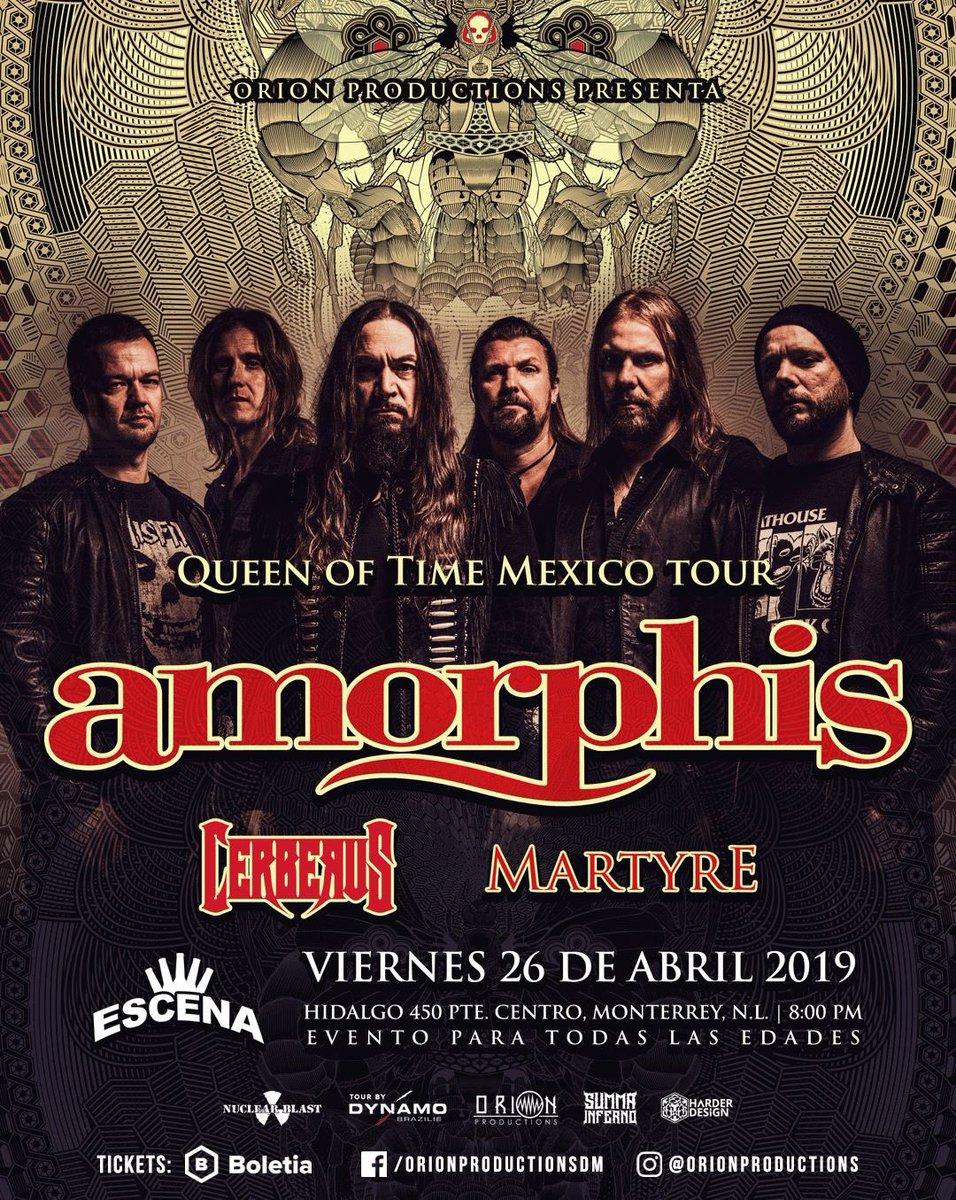 🇲🇽 Who's coming Mexico?  @Escena_Mty @C3Stage @AuditorioBB @GDLConcierto #amorphis #queenoftimetour #queenoftimetour2019 #dynamoprod https://t.co/kNd0hjUimB