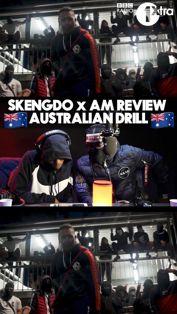 We showed @SkengdoxAm Australian drill and they were feelin' it! 🔥  🇦🇺🔄🇬🇧 📹= ONEFOUR - The Message (#Jheeeze!!)
